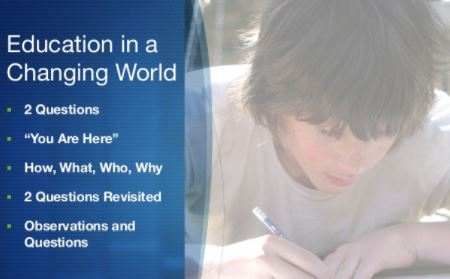 Education in a Changing World – 2013 Ed Talk Slide Deck