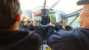 Pilots reading book