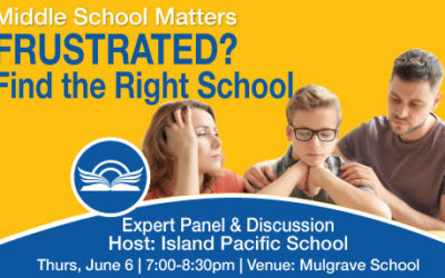 Frustrated? Find the Right School: Expert Educator Panel & Discussion, June 6, 2019