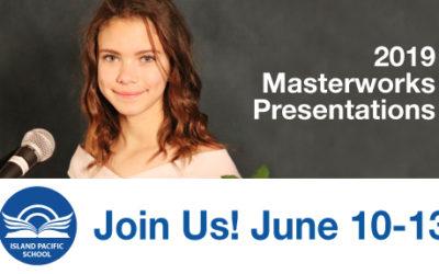 Masterworks June 10 – 13, 2019