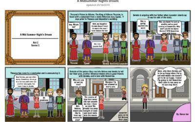 "Comic Strip: Shakespear's ""A Midsummer Night's Dream"""